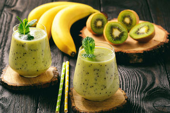 Happy Banana Smoothie mit Gerstengraspulver